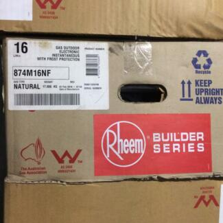 Brand new Rheem Natural gas instananeous hot water system
