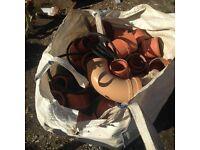 drainage bag of mixed pipes and collars