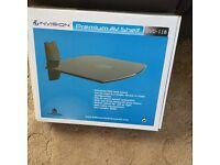 Dvd,satellite box corner or flat black glass shelf