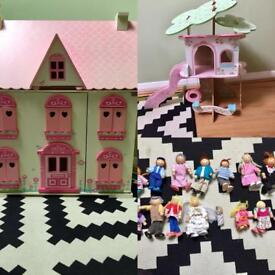 Early learning centre dolls house and treehouse