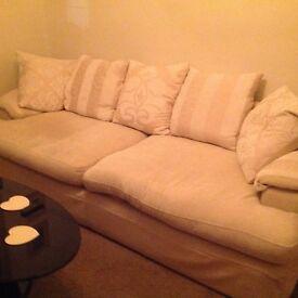 Sofa ex DFS. Colour cream. Good condition