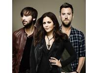 2 LADY ANTEBELLUM tickets Manchester 4/10 GREAT SEATS