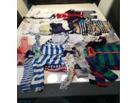 Newborn & up to 1 month Baby boys clothes in great condition.