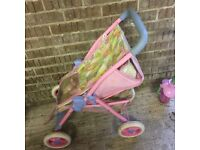 Lovely Pink Dolly Buggy