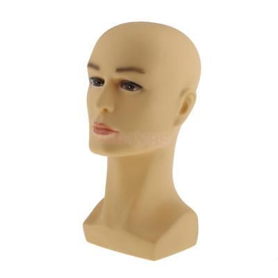 Male Mannequin Head Hair Wigs Hat Cap Glasses Display Moldel Free Stand 2