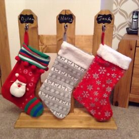Stocking hanging picket fence
