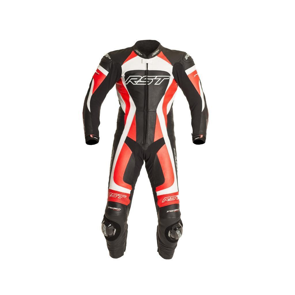 RST Tractech Evo 2 One Piece Leather Suit - Flo Red