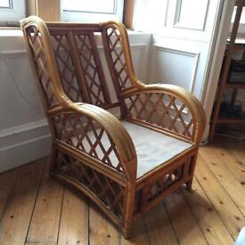 2 cane chairs armchairs conservatory furniture