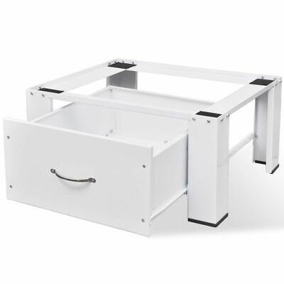 vidaXL Washing Machine Pedestal w/ Storage Drawer Stand Raiser Utility Room✓