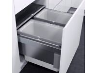 VAUTH-SAGEL BUILT IN KITCHEN RECYCLING 2 X 28LTR BINS BRAND NEW NEVER FITTED