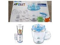 FREE LOCAL DELIVERY Phillips Avent Sterliser & Miniblender & Breast pump Gift set
