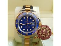 New Rolex - Blue Face, 2-Tone Rolex Submariner - Rolex Boxed And Paperwork Included
