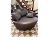 John Lewis 2 seater leather revolving chair