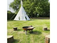 18' Tipi (teepee) only weeks old with woodburner
