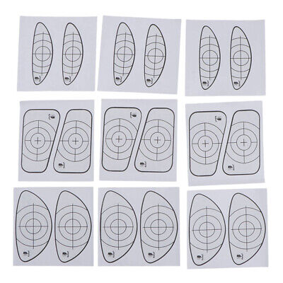 9pcs Golf Impact Tape Recorder Training Aids Labels for Woods and Irons