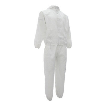 Anti-static Protection Coverall Suit For Chemistry Lab Painting White Xl
