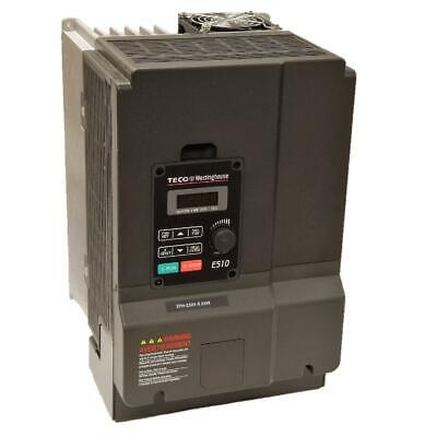 10 Hp 3 Phase 230 Volts Teco Nema 1ip20 Variable Frequency Drive E510-210-h3-u