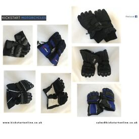 MOTORCYCLE GLOVES £10 EACH SOME USED SOME NEW WITH SLIGHT DEFECTS VARIOUS SIZES AND COLOURS