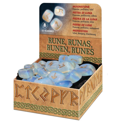 NEW Moonstone Rune Set w/ Bag and Booklet by Lo Scarabeo Moon Stone Runes