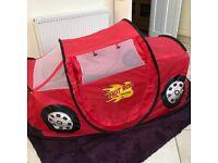 **Kids Pop-Up Hot Rod Car Tent**