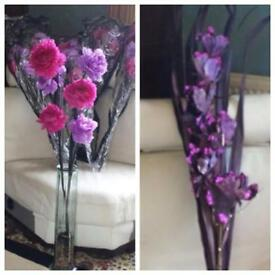 Next Artificial Flowers -Pink, Lilac & Purple Flower Arrangement