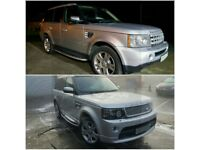 NEW FULL BODY KIT RANGE ROVER SPORT AUTOBIOGRAPHY UPGRADE CONVERSION INC WINGS LAMPS 2005 – 2009