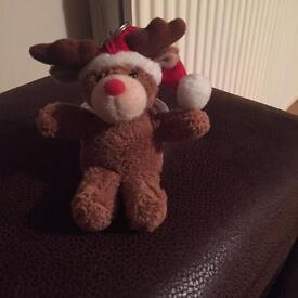 Reindeer teddy keyring