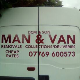 MAN&BIG VAN REMOVALS/SINGLE ITEMS MOVED/SHORT NOTICE/HOUSE CLEARENCES/CHEAP RATES ALL AREAS