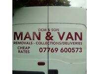 MAN&BIG VAN REMOVALS SINGLE ITEMS MOVED/RUBBISH REMOVALS/HOUSE CLEARENCES/CHEAP RATES ALL AREAS