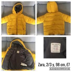 Assorted baby jackets