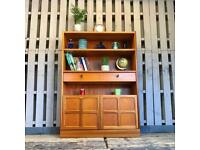 Vintage retro teak sideboard display bookcase cocktail cabinet mid century Nathan