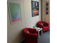 160 sq ft office for rent in CB2, inclusive of service charges, rates and electricity