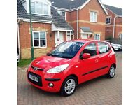 HYUNDAI I10 1.2 COMFORT, MILEAGE 34000, ROAD TAX £30, FULL SERVICE HISTORY, ONE PREVIOUS OWNER