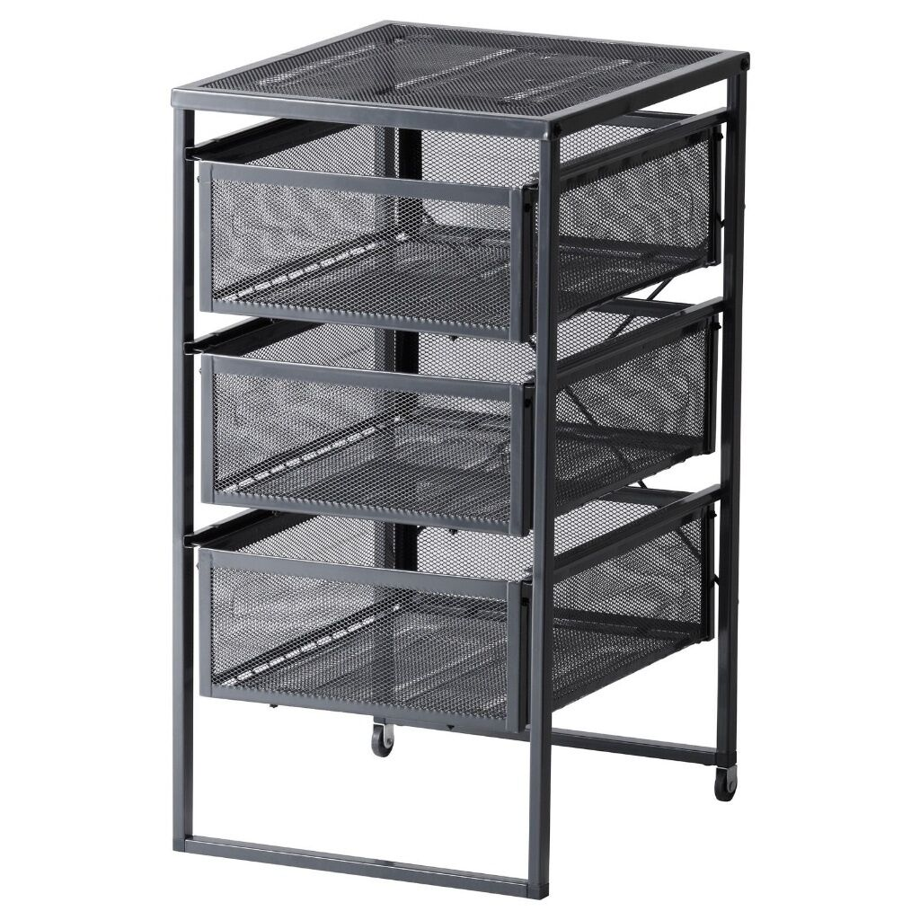 Ikea Lennart Wire Storage Drawer Unit With Wheels
