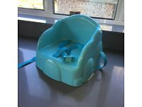 Booster seat high chair straps harness blue child kids
