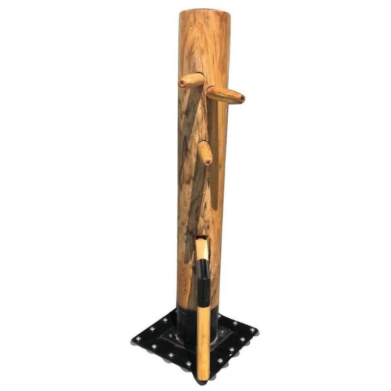 "Solid Wood Free Standing 65"" Training Dummy Wing Chun Ip Man Martial Art Target"