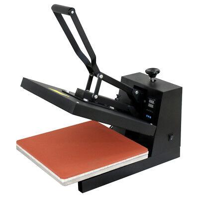 15x15dual Lcd Digital Heat Press Machine For T-shirts Htv Transfer Sublimation
