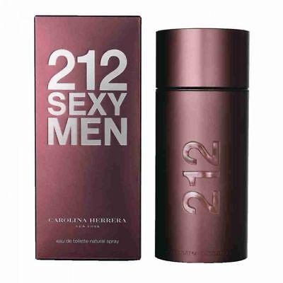 212 Sexy by Carolina Herrera 3.4 oz EDT Cologne for Men New In Box 212 Sexy Men Edt