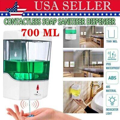 Soap Dispenser Touchless Automatic Wall Mounted Ir Sensor Handsfree 700ml Us