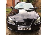 LEXUS IS 220D ,SAT NAV, Reverse Camera , Private plate number , 1 year MOT