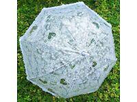 White wedding umbrella
