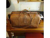 Large leather travel bag