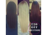 £20 off Micro/Nano Ring & Fusion Bond Hair Extensions