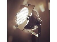 Vintage retro theatre lamp on tripod from Lampsy