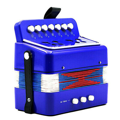 Kids Accordion Mini Toy Christmas Gift Music Toy for Beginner Education Blue