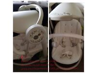 Used baby swing with music and lights