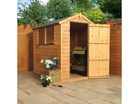 BRAND NEW 6 x 4 Overlap Apex Wooden Garden Shed