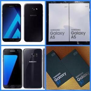 Brand New Samsung Galaxy S7 ($550)/ A5 (2017) ($400) -UNLOCKED/WIND/Mobilicity/Roger/Bell/Telus/Fido/Chat-r/Koodo/Virgin