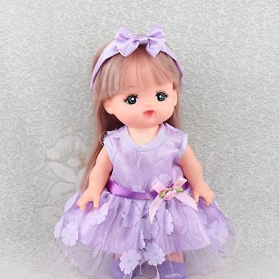 New Fairy Sleeveless Skirt & Hairband for 25cm Mellchan Girl Doll Dress Up