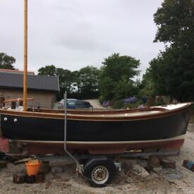 Cornish cove fishing boat